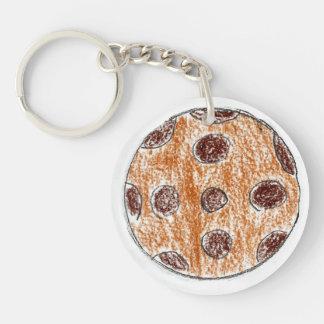 Zoey Single-Sided Round Acrylic Key Ring