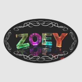 Zoey - The Name Zoey in 3D Lights (Photograph) Stickers