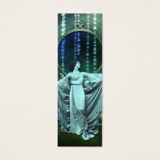 Zohara: Art Deco Woman in Aqua & Green Mini Business Card