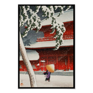 Zôjô-ji Temple in Shiba Twenty Views of Tokyo Poster