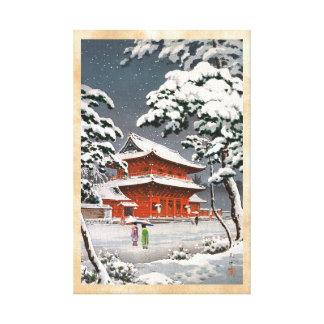 Zojoji Temple in Snow Tsuchiya Koitsu winter scene Canvas Prints
