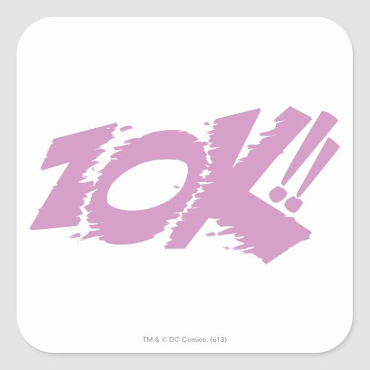 ZOK!! SQUARE STICKER