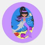 Zola the Purple Mermaid and Dolphin Sticker