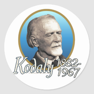 Zoltan Kodaly Round Sticker
