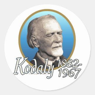 Zoltan Kodaly Round Sticker
