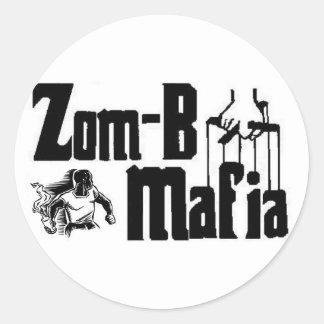 zom-b mafia round sticker