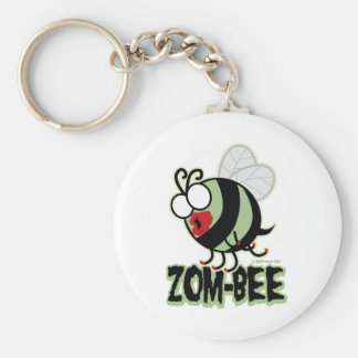 Zom-Bee Basic Round Button Key Ring