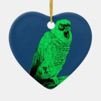 Zom-P Parrot Design Ceramic Heart Decoration