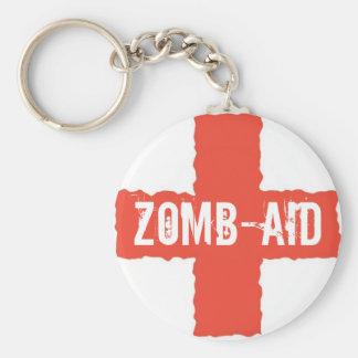 Zomb-AID Basic Round Button Key Ring