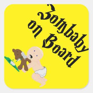 Zombaby on Board Square Sticker