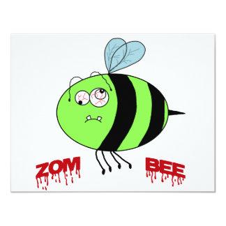 """ZomBee 4.25"""" X 5.5"""" Invitation Card"""