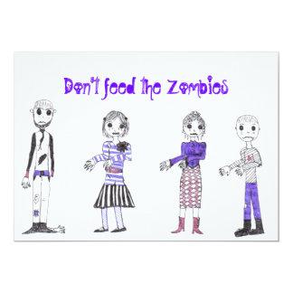 zombie 2, zombie 4, zombie 3, zombie 1, Don't f... 13 Cm X 18 Cm Invitation Card