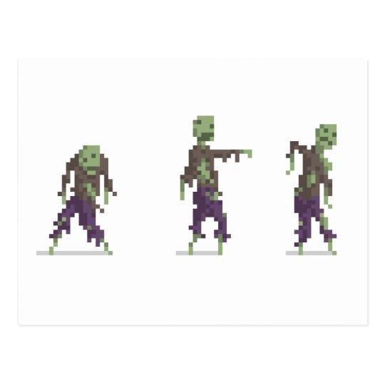 Zombie 8-Bit Pixel Art Postcard