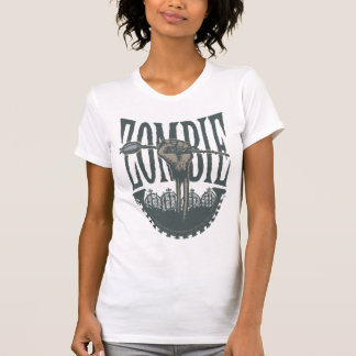 Zombie—A Rose (Grave Grey) T-shirt