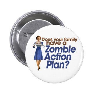 Zombie Action Plan 6 Cm Round Badge