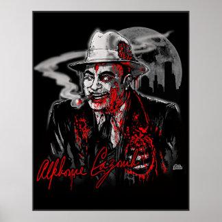Zombie Al Capone Al Cazombie Print