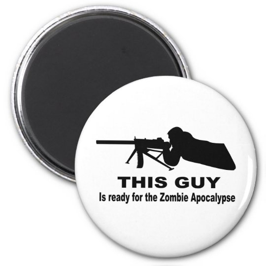 Zombie Apocalypse 6 Cm Round Magnet