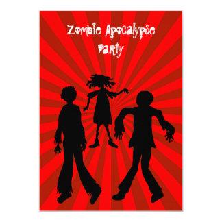 Zombie Apocalypse Birthday Party 13 Cm X 18 Cm Invitation Card