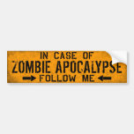 Zombie Apocalypse bumper sticker Car Bumper Sticker
