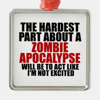 Zombie Apocalypse Christmas Ornament