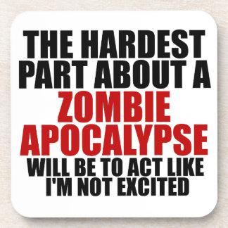 Zombie Apocalypse Drink Coasters