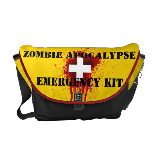 Zombie Apocalypse Emergency Kit Messenger Bag