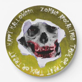 Zombie Apocalypse Halloween Scary Paper Plates