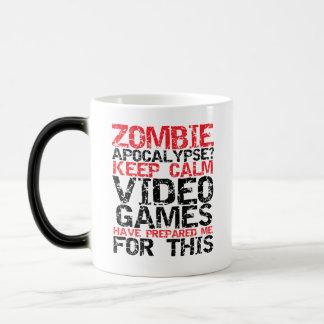 Zombie Apocalypse Keep Calm Gamers Funny Mug