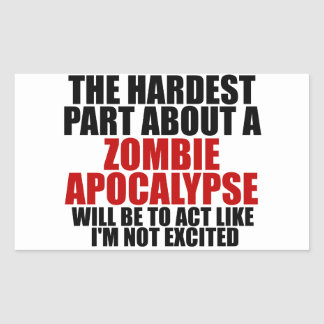 Zombie Apocalypse Rectangular Sticker