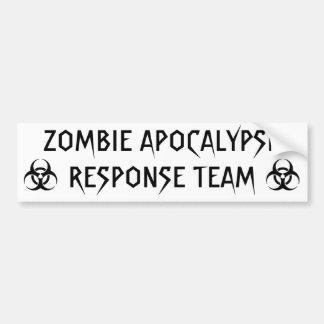 ZOMBIE APOCALYPSE RESPONSE TEAM BUMPER STICKER