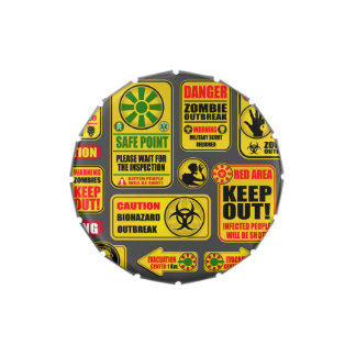 Zombie Apocalypse Signs & Billboards Jelly Belly Candy Tins