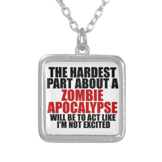 Zombie Apocalypse Silver Plated Necklace