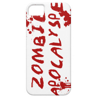 Zombie Apocalypse Skull iPhone Cover - Blood Splat Case For The iPhone 5