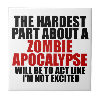 Zombie Apocalypse Small Square Tile