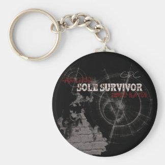 Zombie Apocalypse Sole Survivor Keychain