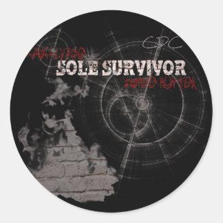 Zombie Apocalypse: Sole Survivor Stickers