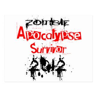 Zombie Apocalypse Survivor 2012 Postcard