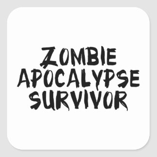 Zombie Apocalypse Survivor Square Sticker