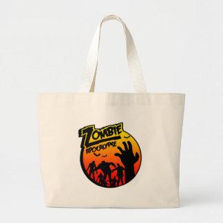 zombie apocalypse tote bags