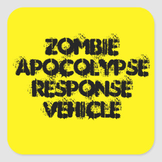 Zombie Apocolypse Response Vehicle Square Sticker