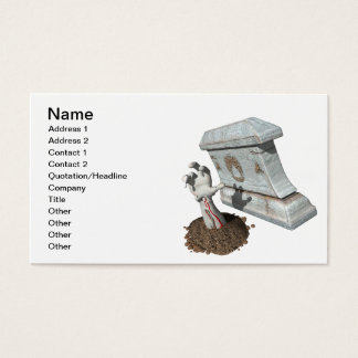 Zombie Arm Grave Business Card