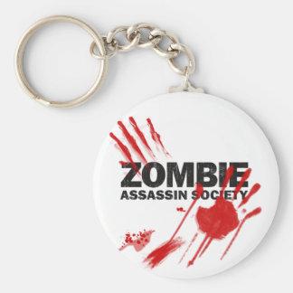 Zombie Assassin Society Basic Round Button Key Ring