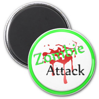 Zombie Attack 6 Cm Round Magnet