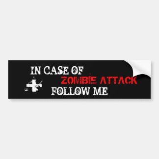 Zombie Attack Bumper Sticker
