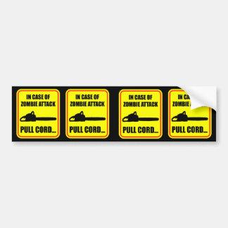 Zombie Attack Bumper Sticker