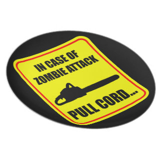 Zombie Attack Plate