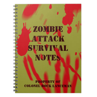 Zombie Attack Survival Notes Spiral Notebooks