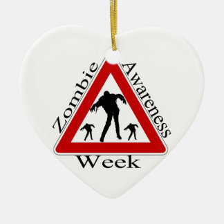 Zombie Awareness Christmas Ornament