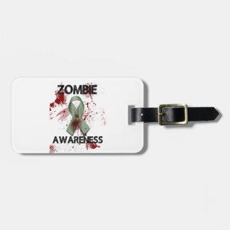 Zombie Awareness Ribbon - Luggage Tag