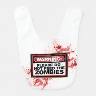Zombie baby bib